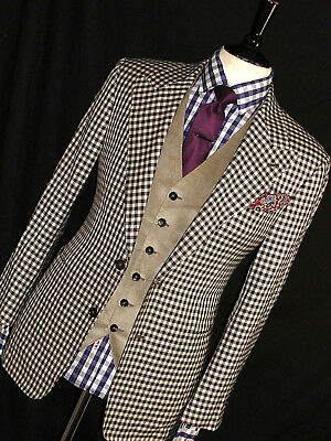 75152ddda7f925 Mens Gucci Tom Ford Mixed & Matched Cords & Check 3 Piece Suit 38R W32 X