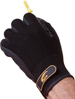 Black Gardening Gloves - Extremely High Tear Resistance. By Easy Off Gloves.