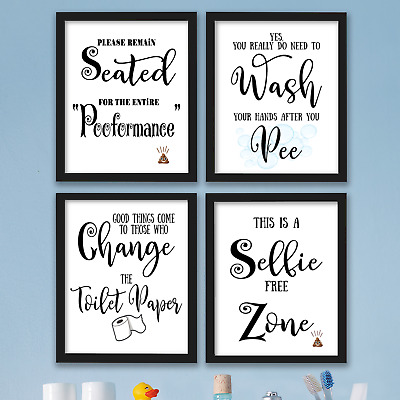 Funny Bathroom Wall Art Prints Farmhouse Decor Pictures Signs Quotes Gag Gift 9 99 Picclick