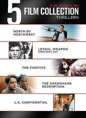 New! 5 Film Collection DVD Set: LA Confidential Shawshank Fugitive Lethal Weapon