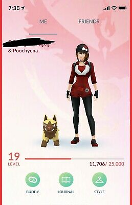 Pokemon Go Account with Shiny Poochyena,Shiny Piloswine,Latias,Rayquaza, Dialga
