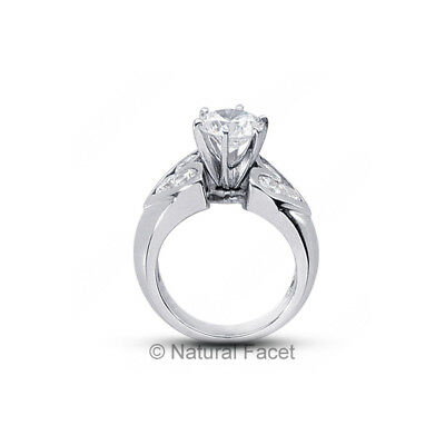1.88ct tw D/SI2/Ideal Round AGI Certify Diamonds White Gold Wide Band Ring 8.5mm
