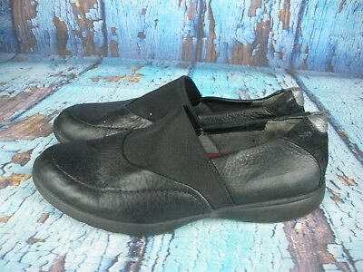 c1e4f27fb18 ARAVON Combination Last Black Leather Slip On Loafers Shoes Women s Size   9.5 B