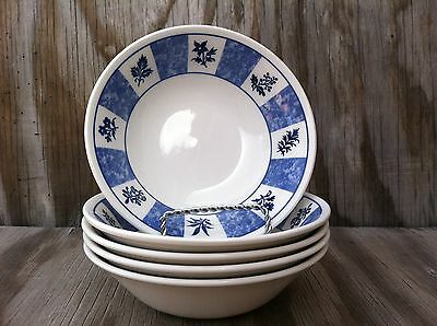 Churchill Made In Staffordshire England Set Of 5 Soup, Cereal Or Salad Bowls