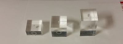 (3) Montblanc Pen Display Cubes Holder Acrylic Classic Rollerball Ball Point