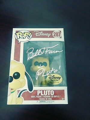 Bill Farmer Autographed Signed Pluto Funko Pop Disney Jsa Coa Protector Case