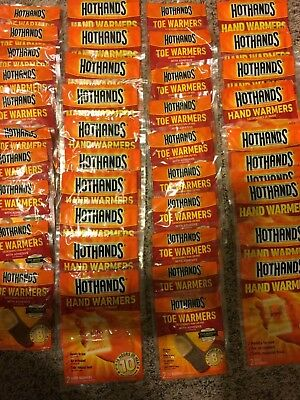 HotHands 20 Pairs Hand Warmers and 20 Pairs Adhesive Toe Warmers, 8 Hours Heat