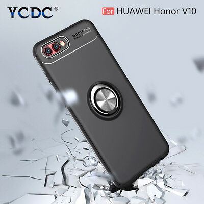 """Magnet Adsorption Case Ring Kickstand Phone Cover For Huawei Honor V10 5.99"""" DD"""