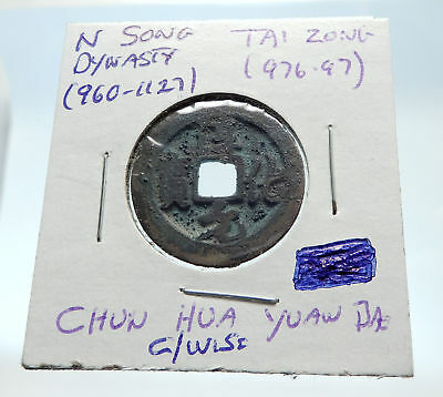 976AD CHINESE Northern Song Dynasty Antique TAI ZONG Cash Coin of CHINA i75365