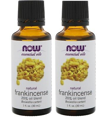 Now Foods - Essential Oils, Frankincense 20%Oil Blend, 1 fl oz (30 ml) - 2 Packs