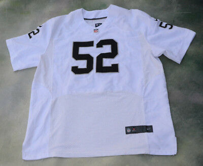 b16ec861 OAKLAND RAIDERS KHALIL Mack #52 Nike On Field Limited Edition NFL ...