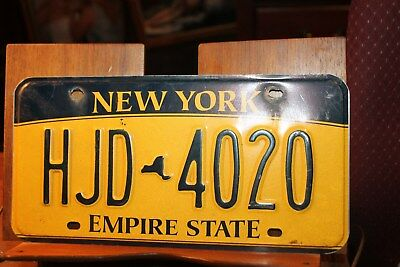 2010 New York Empire State License Plate  HJD 4020
