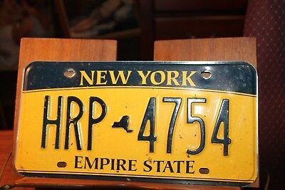 2010 New York Empire State License Plate HRP 4754 (B)