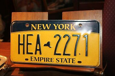 2010 New York Empire State License Plate HEA 2271