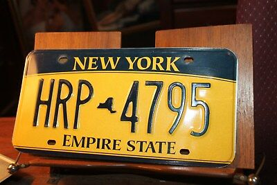 2010 New York Empire State License Plate HRP 4795