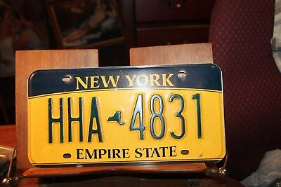 2010 New York Empire State License Plate HHA 4831