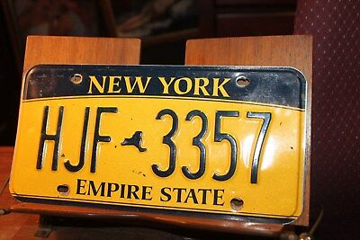 2010 New York Empire State License Plate HJF 3357 (A)