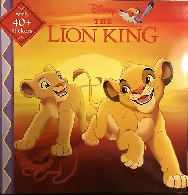Walt Disney The Lion King, 8 x 8, With 40 Stickers   FREE SHIPPING!