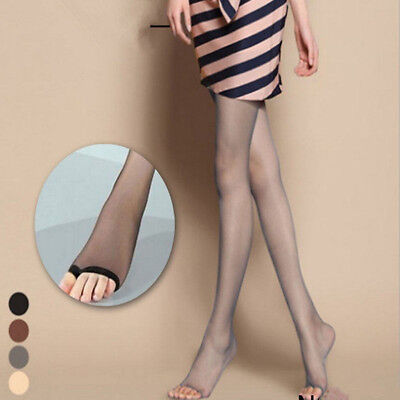 Women Stretchy Sheer Open Toe Ultra-Thin Tight Pantyhose Stockings Anti-off Wire