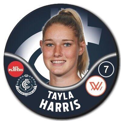 2019 AFLW Carlton Player Badge - HARRIS, Tayla