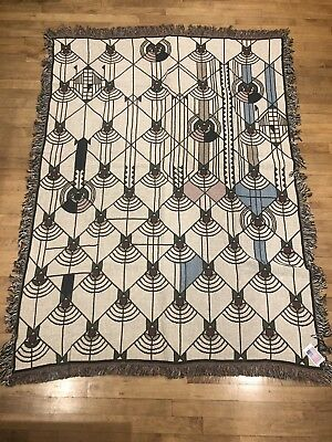 Frank Lloyd Wright April Showers Throw Blanket All Cotton