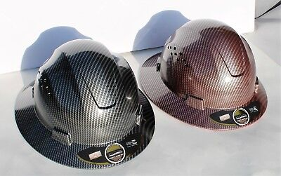 HDPE-Hydro-Dipped-Black and Red-Full-Brim-Hard-Hat-with-Fas-trac-Suspension 2PK