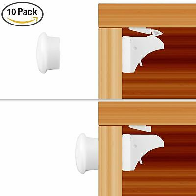 10X Magnetic Baby Child Kids Proof Cupboard Cabinet Drawer Door Safety Lock