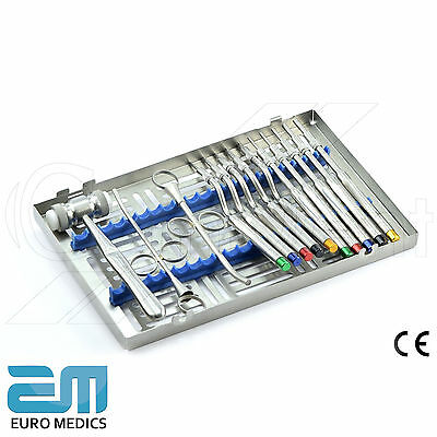 14 Piece Implants Kit Surgical Osteotome Periodontology Dentistry Lab Instrument