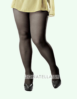 PLUS SIZE sheer semi opaque 20 40 denier TIGHTS PANTYHOSE 6xl 7xl 6x 7x 36 38 40