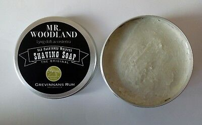 Sapone da barba Grevinnans Rum Mr Woodland shaving soap cream cedarwood scent