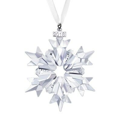SWAROVSKI $79 LARGE ANNUAL CHRISTMAS SNOWFLAKE ORNAMENT 2018 New in Box