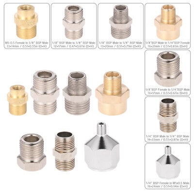Professional 7pcs Airbrush Adaptor Kit Fitting Connector Set For Compressor & Ai