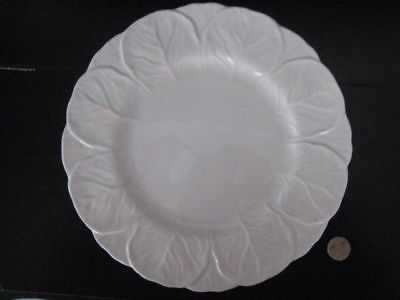 Coalport Countryware Dinner Plate White English Bone China Wedgwood Cabbage Leaf