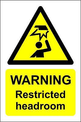 Warning restricted headroom Safety sign