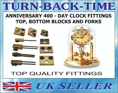 Anniversary 400 day Clock Fittings, Top/Bottom blocks and forks