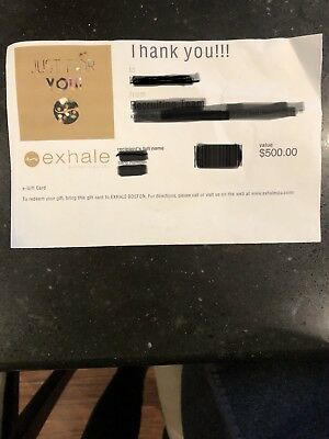 Exhale Gift Certificate