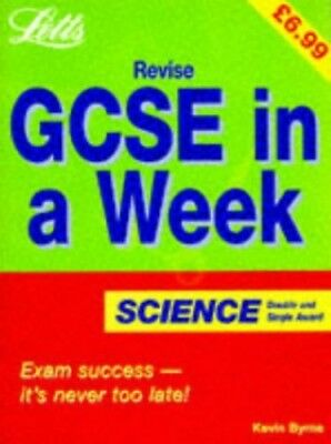 Very Good, Revise GCSE in a Week Science, Byrne, Kevin, Book