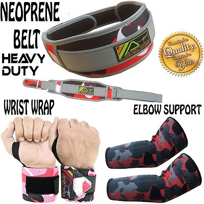 NEW Weight Lifting Fitness Gym Neoprene Wide Double Back Support Belt
