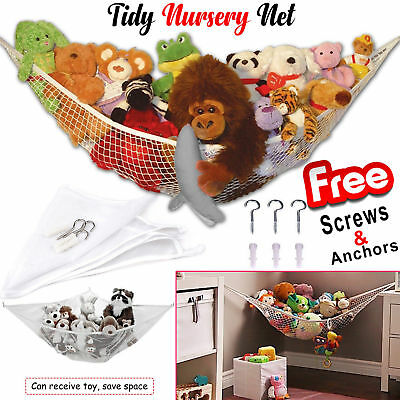 Large Soft Toy Hammock Mesh Net Baby Childs Teddy Bear Keep Bedroom Nursery Tidy