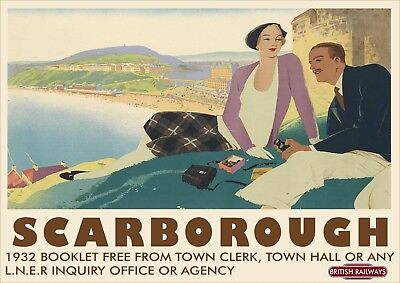 British Rail Railway Vintage Old Poster Picture | Scarborough Yorkshire | TP227