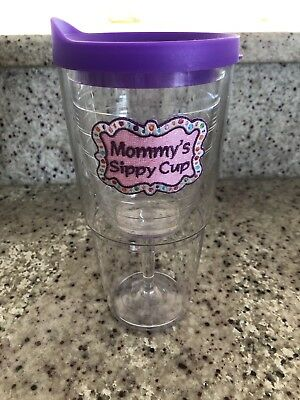 Tervis Tumblers Mommys Sippy Cup Wine Goblet With Lid Purple And