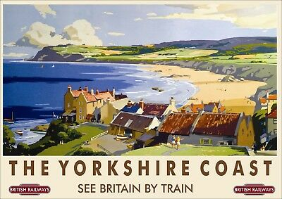 British Rail Railway Vintage Old Poster Picture | The Yorkshire Coast | TP229