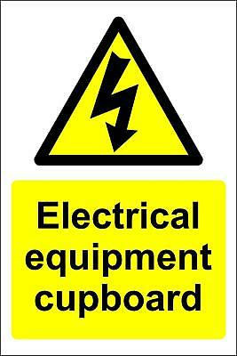 Electrical equipment cupboard sign
