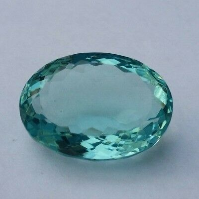 Loose Natural Aquamarine Earth Mined Massive 34.20 Cts Oval Cut Gem Stone