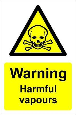 Warning harmful vapours safety sign