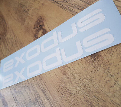 Halfords Roof Box Exodus Emblem Decals Sticker x 2