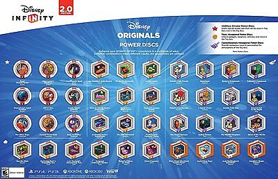 Disney Infinity 2.0 Originals Power Discs Complete Your Set Lot Choose all Need!