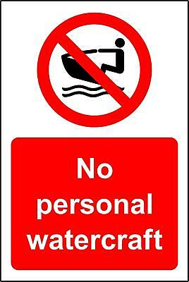 No personal watercraft safety sign