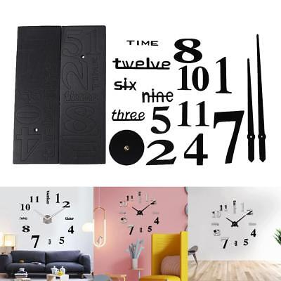 3D Large Wall Clock Mirror Sticker Big Watch Sticker for Home Decor Unique Gift
