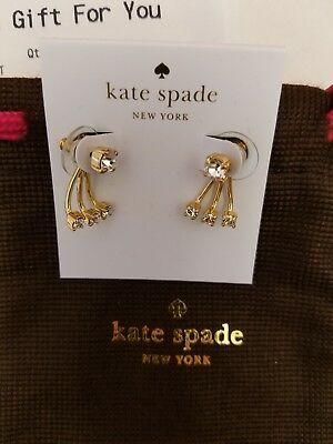 65222ae15f684 KATE SPADE DAINTY Sparklers Cluster Ear Jacket Pearl Earrings White ...